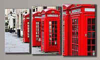 Картина модульная на холсте  Телефонная будка