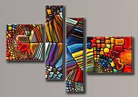 Картина модульная на холсте Мозаика 115,5*167 см.