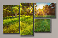 Картина модульная на холсте Пейзаж 60*97(4) см.