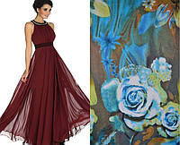 Вечернее платье  Нежность крепдешин цветы