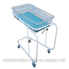 Кроватка (бокс) неонатологическая для новорожденного, полимерное покрытие, на колесах