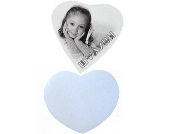 "Заготовка сувенирного магнита  в форме""Сердце"""