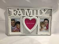 Рамка фотоколлаж family на 3 фото