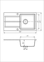 Кухонная мойка из искусственного камня (гранитная) Квадро