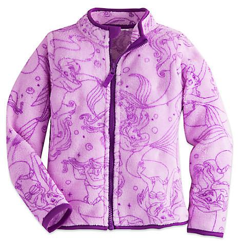 Флисовая кофта для девочки 7/8 лет Русалочка Ариель Дисней / Ariel Fleece Jacket Disney