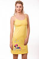 Сорочка ночная женская (ночнушка) желтая домашняя мягкая хлопок Украина