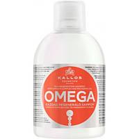 Kallos KJMN Omega Shampoo 1000мл (с комплексом Омега-6 и маслом макадамии)