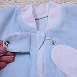"""Велюровая евро-пеленка кокон, для новорожденных """"Puso"""", голубая, фото 4"""