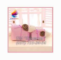 Трансформер 3 в1 (плед, подушка, игрушка) БАРАШЕК под заказ (от 50 шт.)