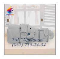 Трансформер 3 в1 (плед, подушка, игрушка) СЛОН под заказ (от 50 шт.) , фото 1