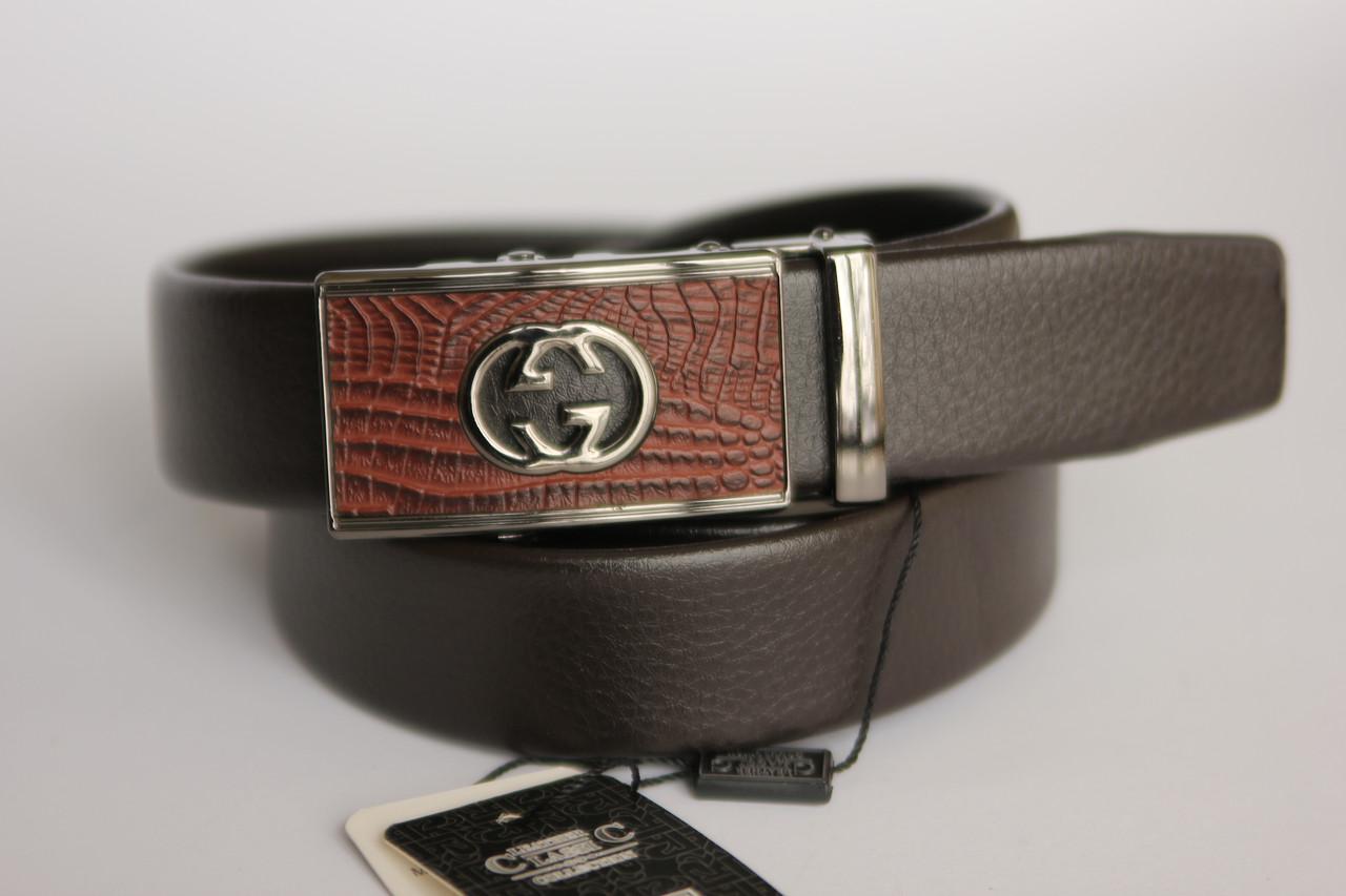 Мужской ремень А5022 (коричневый)