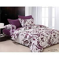 Комплект постільної білизни двоспальний фіолетовий вензель