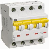 IEK Автоматический выключатель ВА 47-60 4Р 40А MVA41-4-040-C