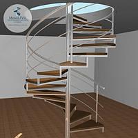 Винтовая лестница из нержавейки