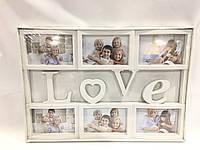 Рамка фотоколлаж love 6 фото