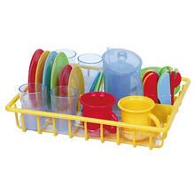 Игрушечная посуда и продукты
