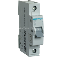 Hager Автоматический выключатель In=10 А, 1п MB110A