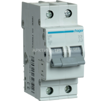 Hager Автоматический выключатель In=10 А, 2п MB210A