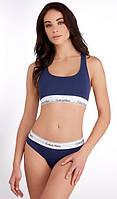 Женский спортивный комплект Белья Calvin Klein Кельвин Кляйн топ и плавки слипы Хлопок 4 цвета