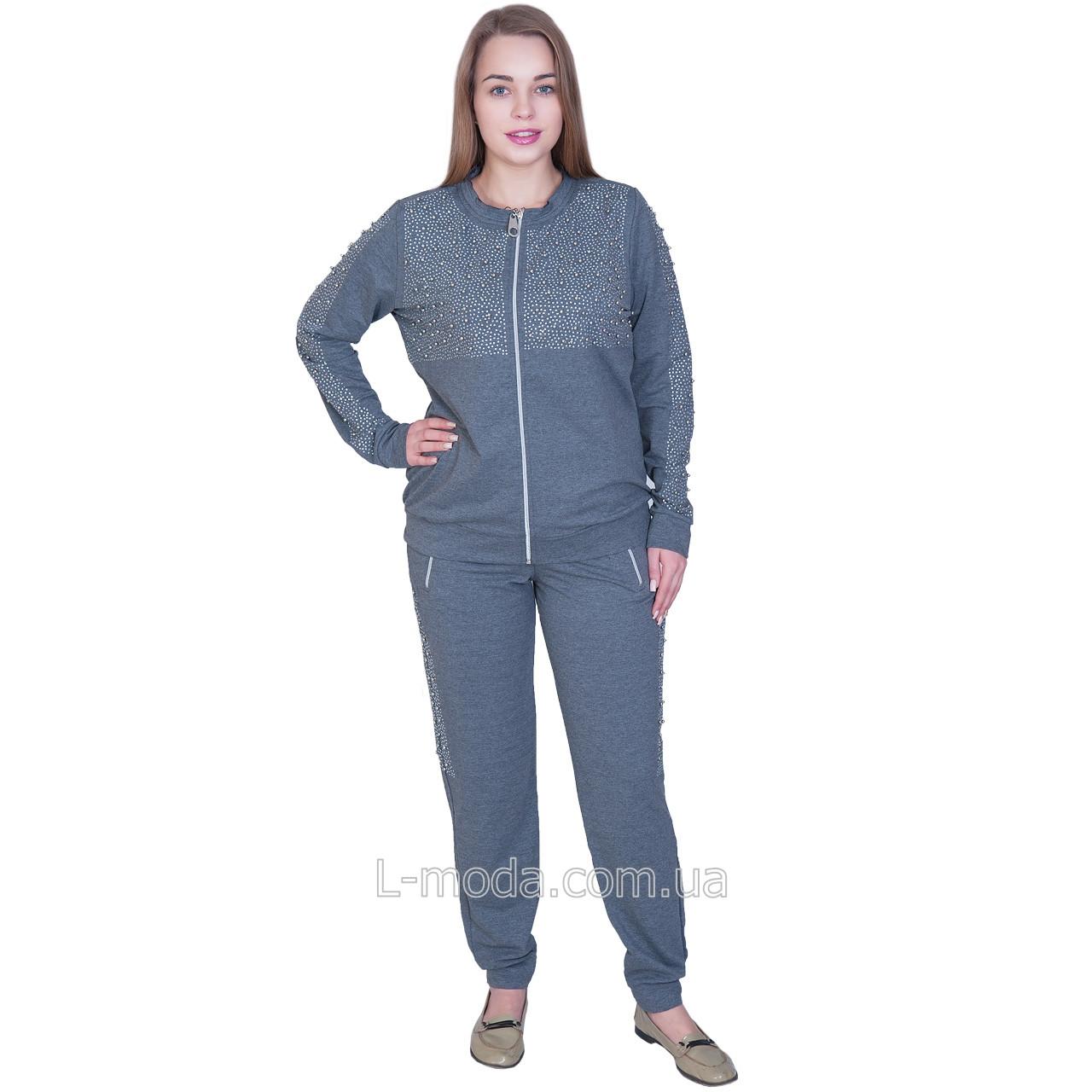 Женский спортивный костюм серый Турция
