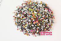 Mix камней Swarovski Rainbow разных цветов и размеров, 1400 шт