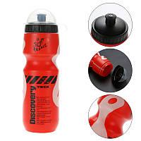 Фляга Discovery для велосипеда 650ml велосипедная бутылка Red-White