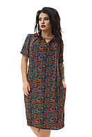 Платье из штапеля легкое, летнее, большого размера  52-62
