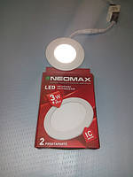 Светильник LED панель 3w NEOMAX круглый встраеваемый