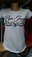Стильная футболка для девочек Pepe Jeans размеры: 152,158,164,170,176 роста