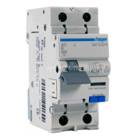 Hager Диф. выключатель 1+N, 20A, 30 mA, B, 6 КА, A, 2м AD920J