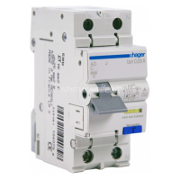 Hager Диф. выключатель 1+N,  6A, 30 mA, С, 6 КА, A, 2м AD956J