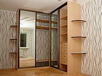 Угловой шкаф-купе с зеркалами