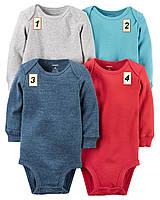 Боди с длинным рукавом для мальчика Carter's, (размеры: 3М;6М;9М;12М;18М;24М):