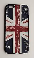Чехол на Айфон 6/6s Glossy side Силикон Флаг Великобритании, фото 1