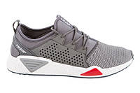 Мужские стильные серые кроссовки для спорта бега, текстиль Razor
