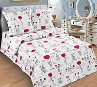 Комплект постельного белья 145х220см Любовь-Морковь Поплин