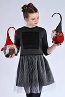 Комплект для девочек платье+кофточка рост от 146 до 158