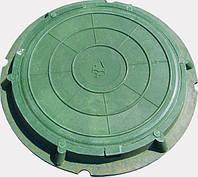 """Крышка для люка """"Garden"""" полимерпесчаная зеленая 315"""