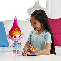 Интерактивная кукла тролль Розочка поющая большая 36 см.DreamWorks Trolls Hug Time Poppy