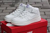 Кроссовки женские Nike Airforce высокие белые 1770