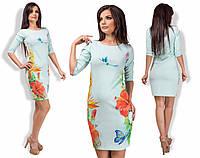 """Стильное молодежное платье мини """" Цветы и птичка """" Dress Code"""