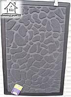 Коврик тканевый Камни 60*40 (серый) К08