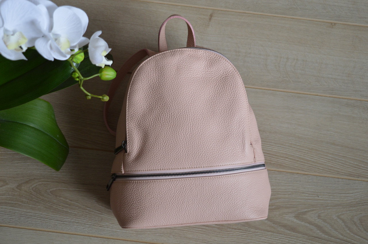 Розовый кожаный рюкзак из Италии 00947 из Италии  кожаные женские ... 5e99a3e1dff