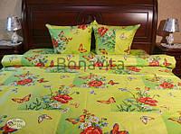 Яркое постельное белье в бабочки 100 % хлопок семейное