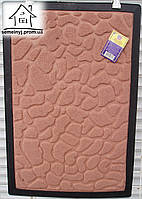 Коврик тканевый Камни 60*40 (персиковый) К09