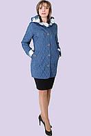 Демисезонная стеганная классическая куртка большого размера 50-58, фото 1