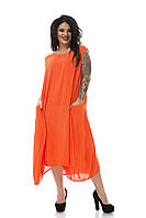 Длинная туника платье лето большого размера 50-62