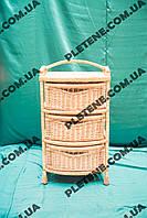 Комод из лозы с тремя шуфлядами, фото 1