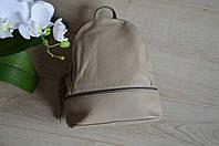 Бежевый кожаный рюкзак из Италии 00947