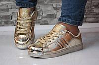 Кроссовки золотистые с железным носиком, фото 1